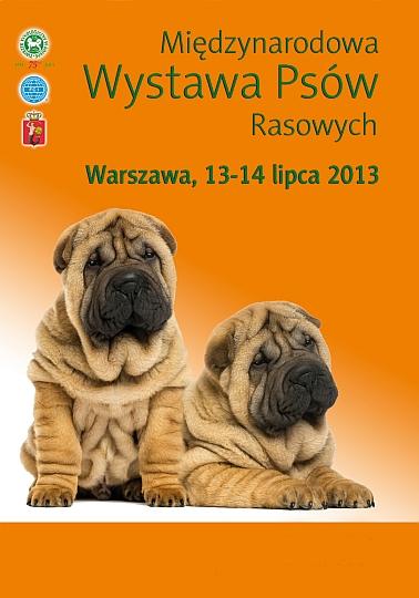 MIĘDZYNARODOWA WYSTAWA PSÓW RASOWYCH w  WARSZAWIE, 13-14.07.2013